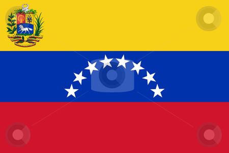 Venezuela Flag stock photo, Sovereign state flag of country of Venezuela in official colors. by Martin Crowdy