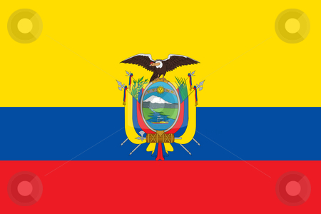 Ecuador stock photo, Sovereign state flag of country of Ecuador in official colors. by Martin Crowdy