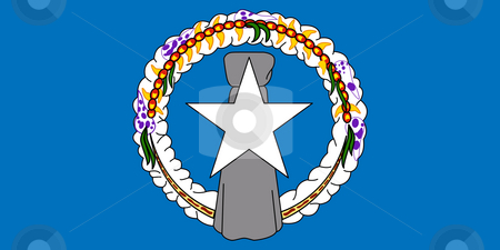 Northern Mariana Islands stock photo, Sovereign state flag of dependent country of Northern Mariana Islands in official colors. by Martin Crowdy