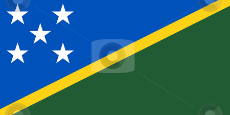 Solomon ISlands stock photo, Sovereign state flag of country of Solomn Islands in official colors. by Martin Crowdy