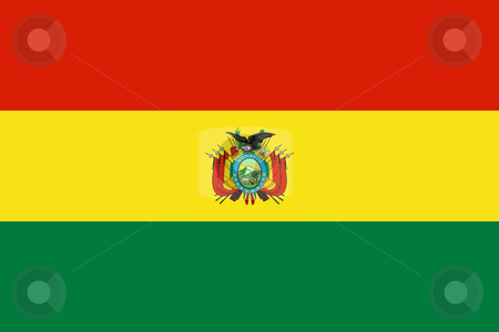 Bolivia Flag stock photo, Sovereign state flag of country of Bolivia in official colors. by Martin Crowdy