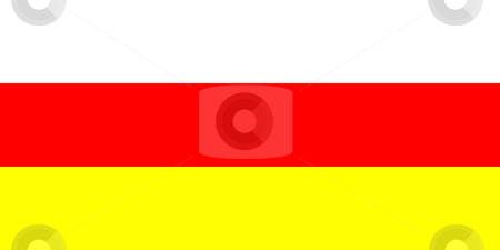 South Ossetia Flag stock photo, Sovereign state flag of country of South Ossetia  in official colors. by Martin Crowdy