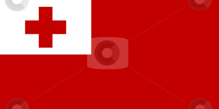 Tongo Flag stock photo, Sovereign state flag of country of Tongo in official colors. by Martin Crowdy