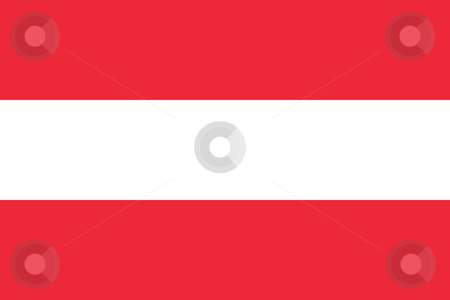 Austria flag stock photo, Sovereign state flag of country of Austria in official colors. by Martin Crowdy