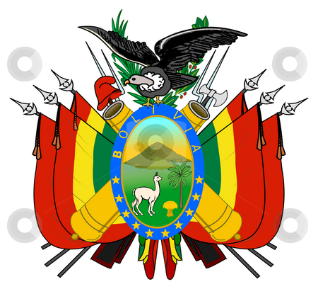 Bolivia Coat of Arms stock photo, Bolivia coat of arms, seal or national emblem, isolated on white background. by Martin Crowdy
