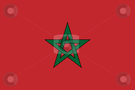 Morocco Flag stock photo, Sovereign state flag of country of Morocco in official colors. by Martin Crowdy