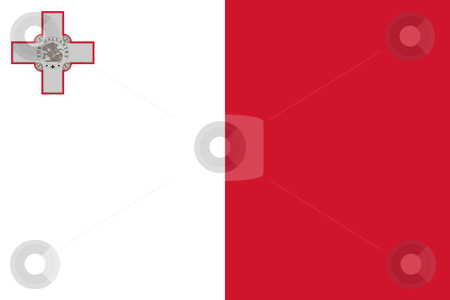 Malta Flag stock photo, Sovereign state flag of country of Malta in official colors. by Martin Crowdy