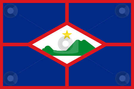 Sint Eustatius Flag stock photo, Sovereign state flag of dependent country of Sint Eustatius in official colors. by Martin Crowdy