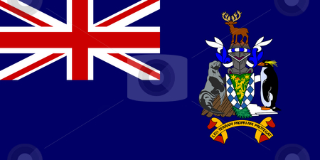 South Georgia Flag stock photo, Sovereign state flag of dependent country of South Georgia and the Sandwich Islands in official colors. 