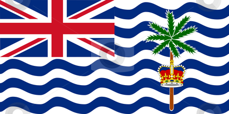 Bristish Indian Ocean Territory stock photo, Sovereign state flag of dependent country of British Indian Ocean Territory in official colors. by Martin Crowdy