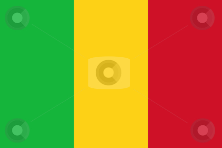 Mali Flag stock photo, Sovereign state flag of country of Mali in official colors. by Martin Crowdy