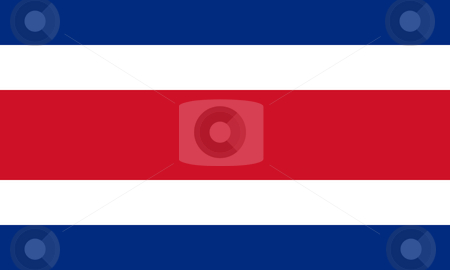 Costa Rica Flag stock photo, Sovereign state flag of country of Costa Rica in official colors. by Martin Crowdy
