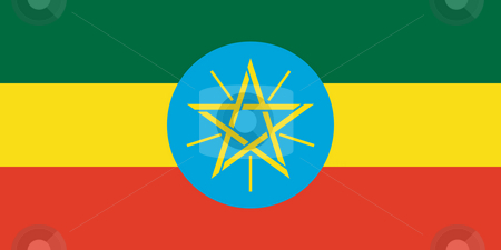 Ethiopia Flag stock photo, Sovereign state flag of country of Ethiopia  in official colors. by Martin Crowdy