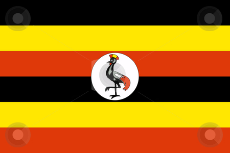 Uganda Flag stock photo, Sovereign state flag of country of Uganda in official colors. by Martin Crowdy