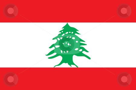 Lebanon Flag stock photo, Sovereign state flag of country of Lebanon in official colors. by Martin Crowdy