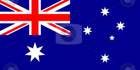 Australia Flag stock photo, Sovereign state flag of country of Australia in official colors. by Martin Crowdy