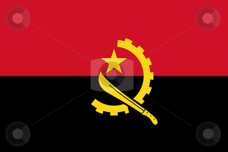 Angola Flag stock photo, Sovereign state flag of country of Angola iin official colors. by Martin Crowdy