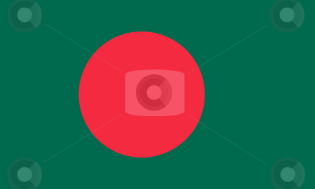 Bangladesh Flag stock photo, Sovereign state flag of country of Bangladesh in official colors. by Martin Crowdy