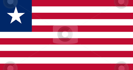 Liberia Flag stock photo, Sovereign state flag of country of Liberia in official colors. by Martin Crowdy