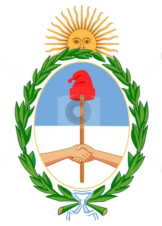 Argentina Coat of Arms stock photo, Argentina coat of arms, seal or national emblem, isolated on white background. by Martin Crowdy