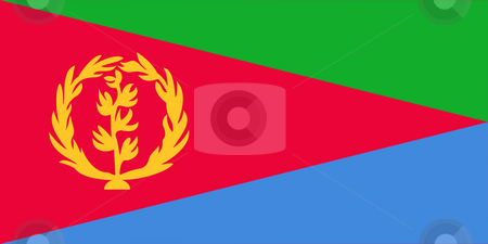 Eritrea flag stock photo, Sovereign state flag of country of Eritrea in official colors. by Martin Crowdy
