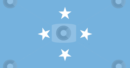 Ferderated States of Micronesia stock photo, Sovereign state flag of country of Federated States of Micronesia in official colors. by Martin Crowdy