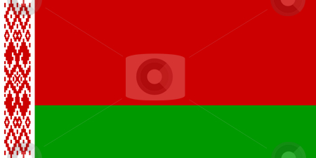 Belarus Flag stock photo, Sovereign state flag of country of Belarus in official colors. by Martin Crowdy
