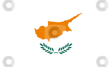 Cyprus Flag stock photo, Sovereign state flag of country of Cyprus in official colors. by Martin Crowdy