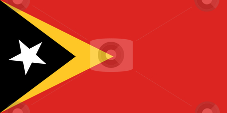 East Timor stock photo, Sovereign state flag of country of East Timor in official colors. by Martin Crowdy