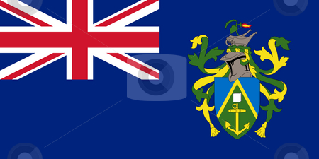 Pitcairn Islands stock photo, Sovereign state flag of dependent country of Pitcairn Islands in official colors. by Martin Crowdy