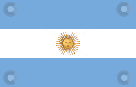Argentina Flag stock photo, Sovereign state flag of country of Argentina in official colors. by Martin Crowdy
