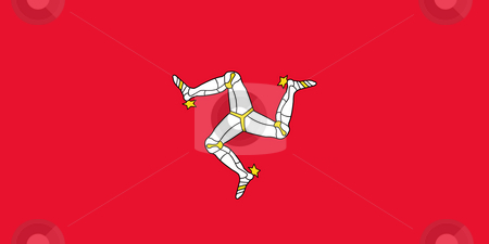 Isle of Man Flag stock photo, Sovereign state flag of dependent country of Isle of Man in official colors. by Martin Crowdy