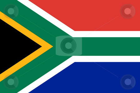 South Africa Flag stock photo, Sovereign state flag of country of South Africa in official colors. by Martin Crowdy