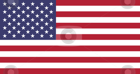 United States of America Flag stock photo, Sovereign state flag of country of United States of America in official colors. by Martin Crowdy