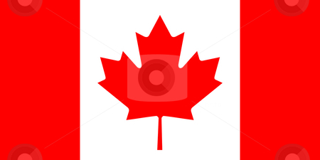Canada Flag stock photo, Sovereign state flag of country of Canada in official colors. by Martin Crowdy