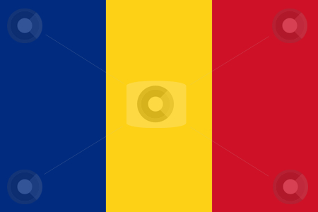 Romania Flag stock photo, Sovereign state flag of country of Romania in official colors. by Martin Crowdy