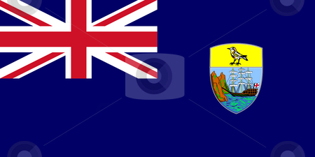 Saint Helena Flag stock photo, Sovereign state flag of dependent country of Saint Helena in official colors. by Martin Crowdy