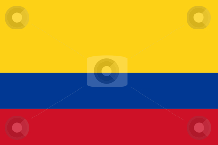 Colombia Flag stock photo, Sovereign state flag of country of Colombia in official colors. by Martin Crowdy