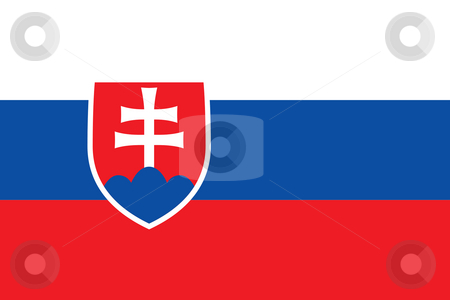 Slovakia Flag stock photo, Sovereign state flag of country of Slovakia in official colors. by Martin Crowdy