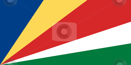 Seychelles Flag stock photo, Sovereign state flag of country of Seychelles in official colors. by Martin Crowdy