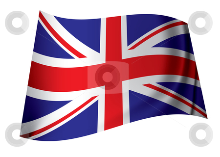 United kingdom flag stock vector clipart, British flag icon for all nations in the united kingdom by Michael Travers