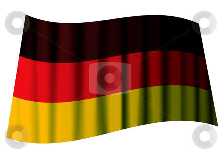 German flag ripple stock vector clipart, German flag icon with ripples and black red and yellow stripes by Michael Travers
