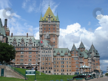 Frontenac castle, Quebec, Canada stock photo, Frontenac castle, Quebec, Canada, by cloudy weather by Elenarts