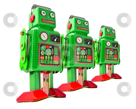 Robot stock photo, retro robot toys by Charles Taylor