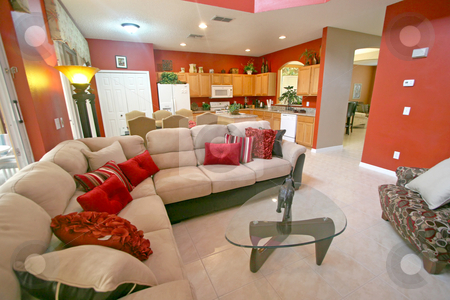 Living Area stock photo, An Interior Living Area of a Home by Lucy Clark