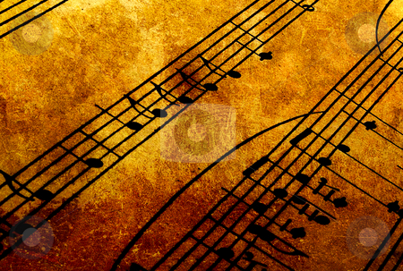 Music stock photo, old sheet music by Charles Taylor