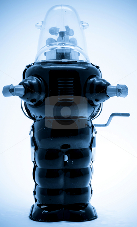 Robot stock photo, Retro robot toy by Charles Taylor