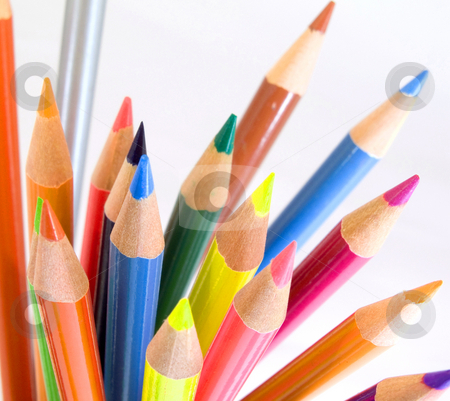 Pencils stock photo, Color pencils  on white by Charles Taylor
