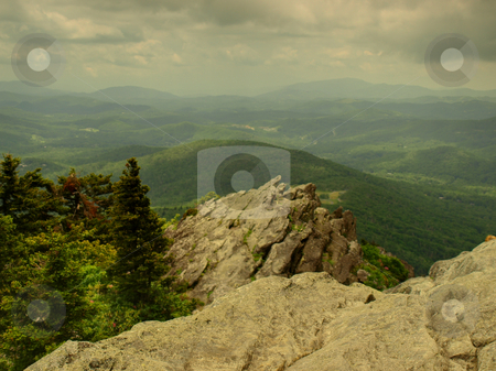 Green view stock photo, View seen from Grandfather Mountain Sate Park in North Carolina by Tim Markley