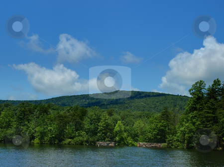 Hanging Rock State Park stock photo, Lake view at Hanging Rock State Park in North Carolina by Tim Markley